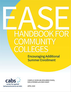 EASE Handbook for Community Colleges cover