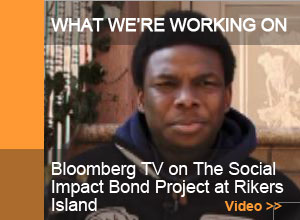 Bloomberg TV on The Social Impact Bond Project at Rikers Island